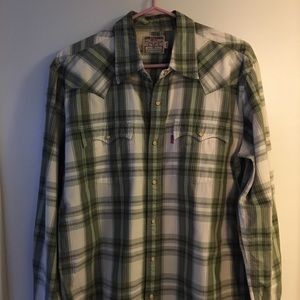 LEVIS STRAUSS Western Style snap long sleeve shirt